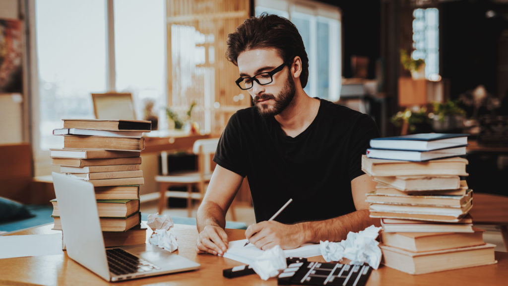 man reviewing data from ebook sales promotion